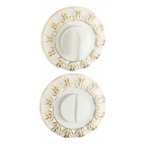 Завертка сантехническая BK10WG (круглая, белый — золото)