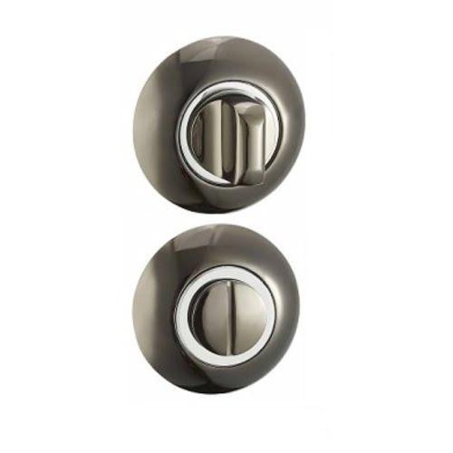 Завертка сантехническая BKBN-CP (круглая, черный никель — хром)