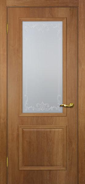 Межкомнатная дверь SK012 (экошпон «дуб джерси» / матовое стекло)