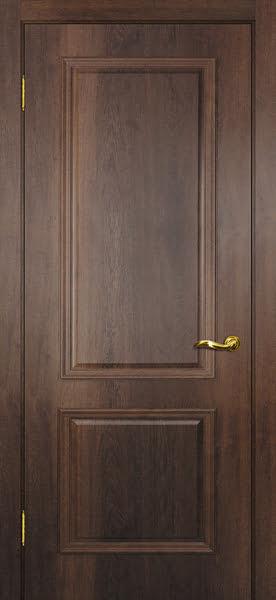 Межкомнатная дверь SK012 (экошпон «дуб коньяк» / глухая)
