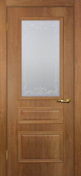 Межкомнатная дверь SK013 (экошпон «дуб джерси» / матовое стекло)