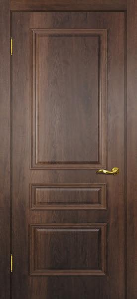 Межкомнатная дверь SK013 (экошпон «дуб коньяк» / глухая)