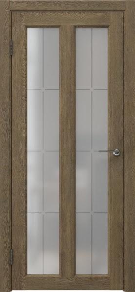 Межкомнатная дверь FK007 (экошпон «дуб антик» / стекло решетка)