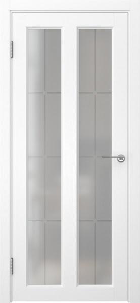 Межкомнатная дверь FK007 (экошпон «ясень белый» / стекло решетка)