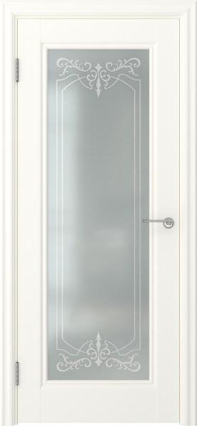 Межкомнатная дверь FK008 (экошпон «слоновая кость» / матовое стекло)