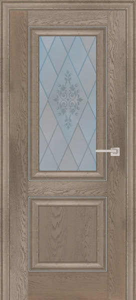 Межкомнатная дверь FK009 (экошпон «дуб английский бежевый» / матовое стекло)