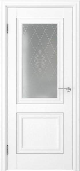 Межкомнатная дверь FK009 (экошпон «ясень белый» / матовое стекло)