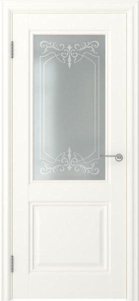 Межкомнатная дверь FK010 (экошпон «слоновая кость» / матовое стекло)
