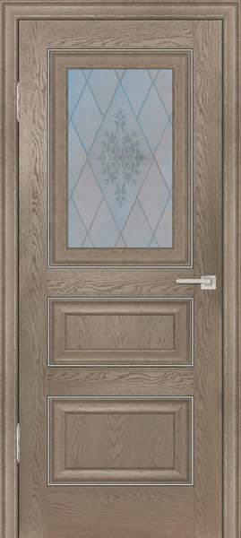 Межкомнатная дверь FK011 (экошпон «дуб английский бежевый» / матовое стекло)