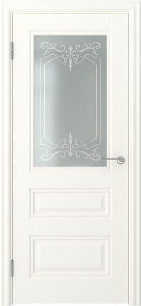 Межкомнатная дверь FK012 (экошпон «слоновая кость» / матовое стекло)