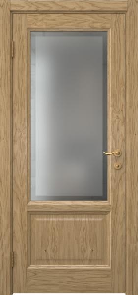 Межкомнатная дверь FK014 (натуральный шпон дуба / стекло рамка)