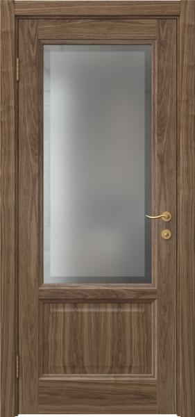 Межкомнатная дверь FK014 (шпон американский орех / стекло рамка)