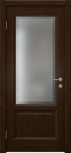 Межкомнатная дверь FK014 (шпон дуб коньяк / стекло рамка)
