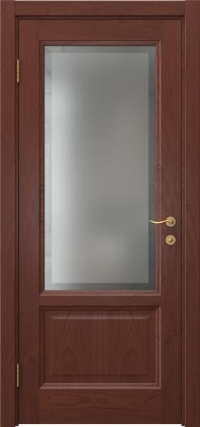 Межкомнатная дверь FK014 (шпон красное дерево / стекло рамка)