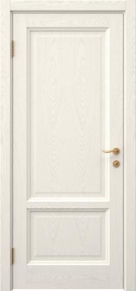 Межкомнатная дверь FK014 (шпон ясень слоновая кость / глухая)