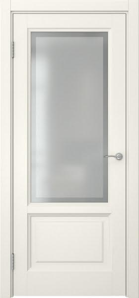 Межкомнатная дверь FK014 (эмаль слоновая кость / стекло рамка)