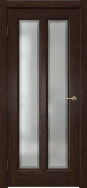Межкомнатная дверь FK015 (шпон дуб коньяк / стекло рамка)