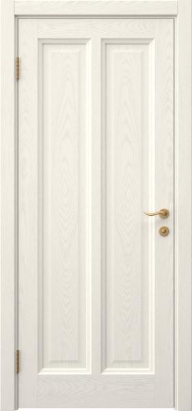 Межкомнатная дверь FK015 (шпон ясень слоновая кость / глухая)