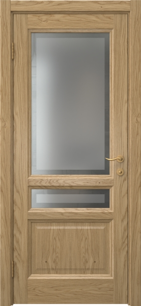 Межкомнатная дверь FK016 (натуральный шпон дуба / стекло рамка)