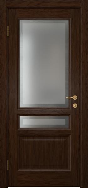 Межкомнатная дверь FK016 (шпон дуб коньяк / стекло рамка)