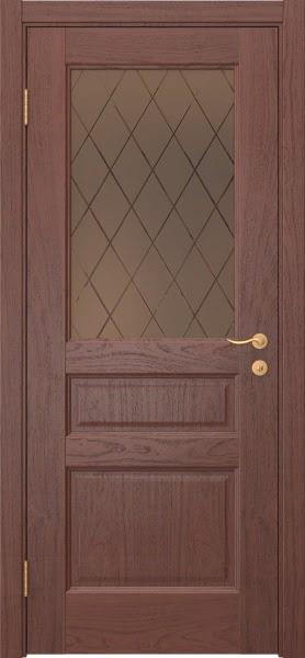 Межкомнатная дверь FK016 (шпон красное дерево / стекло рамка)