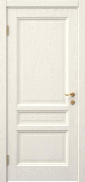Межкомнатная дверь FK016 (шпон ясень слоновая кость / глухая)