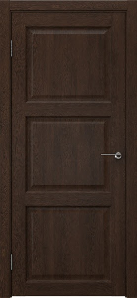 Межкомнатная дверь FK017 (экошпон «дуб шоколад» / глухая)