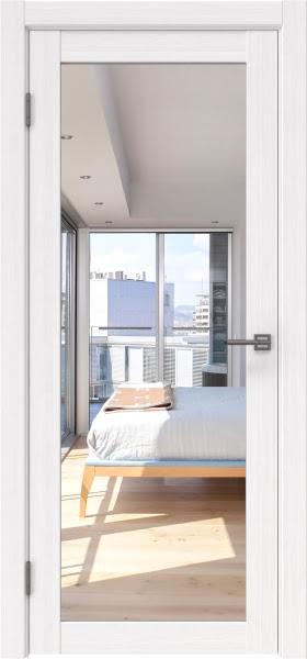 Межкомнатная дверь FK021 (экошпон «белый FL», зеркало)