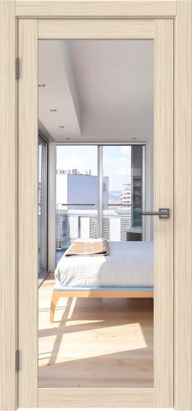 Межкомнатная дверь FK021 (экошпон «беленый дуб FL», зеркало)