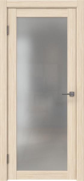 Межкомнатная дверь FK021 (экошпон «беленый дуб FL», матовое стекло)