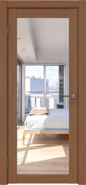 Межкомнатная дверь FK021 (экошпон «орех FL», зеркало)