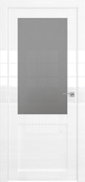 Межкомнатная дверь FK022 (белая глянцевая, триплекс)