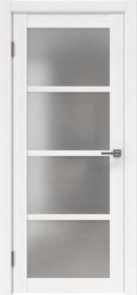 Межкомнатная дверь FK027 (экошпон «белый FL», матовое стекло)
