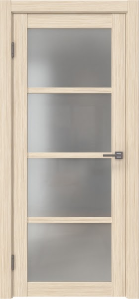 Межкомнатная дверь FK027 (экошпон «беленый дуб FL», матовое стекло)