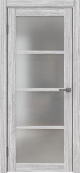 Межкомнатная дверь FK027 (экошпон «серый дуб FL», матовое стекло)