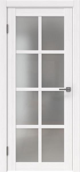 Межкомнатная дверь FK028 (экошпон «белый FL», матовое стекло)