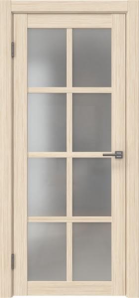 Межкомнатная дверь FK028 (экошпон «беленый дуб FL», матовое стекло)