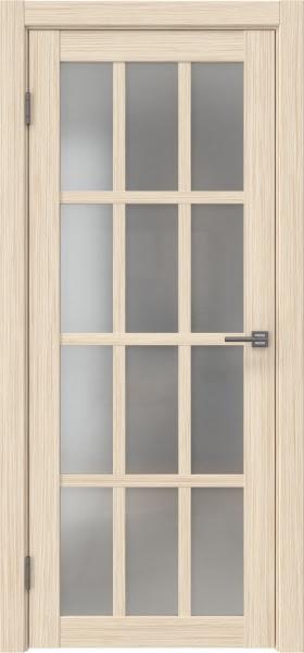 Межкомнатная дверь FK029 (экошпон «беленый дуб FL», матовое стекло)