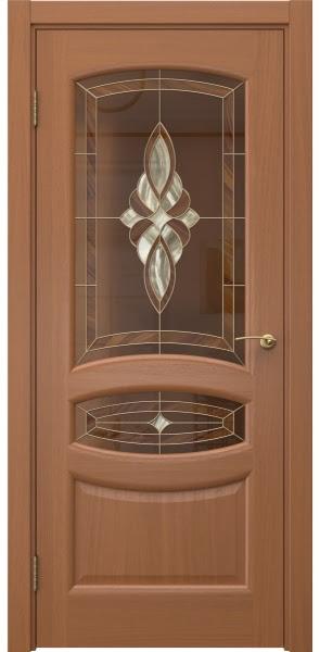 Межкомнатная дверь FK030 (шпон анегри / витраж)