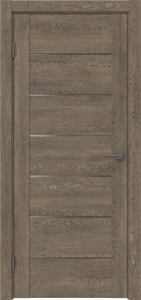 Межкомнатная дверь GM001 (экошпон «дуб антик» / матовое стекло)