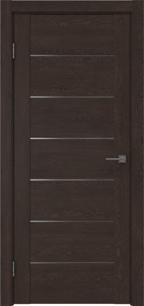 Межкомнатная дверь GM001 (экошпон «дуб шоколад» / матовое стекло)