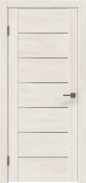 Межкомнатная дверь GM001 (экошпон «белый дуб» / матовое стекло)