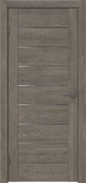 Межкомнатная дверь GM002 (экошпон «серый дуб» / матовое стекло)