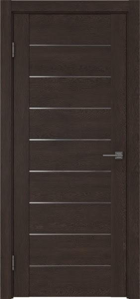Межкомнатная дверь GM002 (экошпон «дуб шоколад» / матовое стекло)