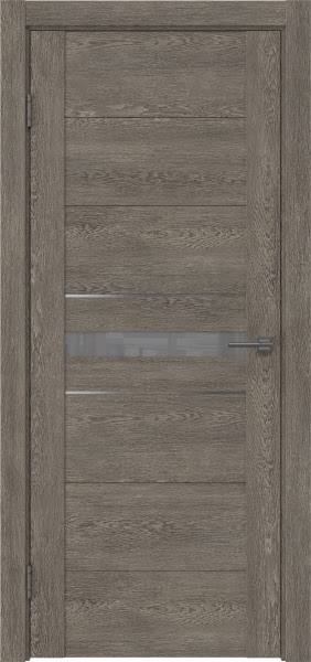 Межкомнатная дверь GM003 (экошпон «серый дуб» / лакобель серый)