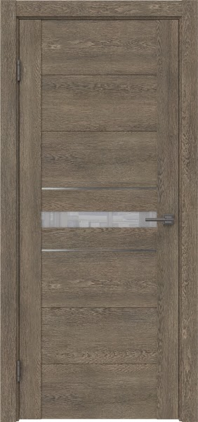 Межкомнатная дверь GM003 (экошпон «дуб антик» / лакобель белый)