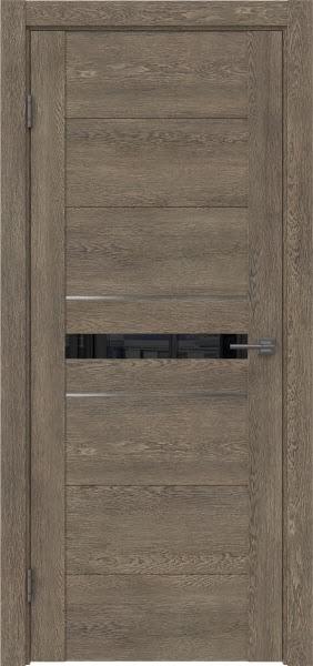 Межкомнатная дверь GM003 (экошпон «дуб антик» / лакобель черный)