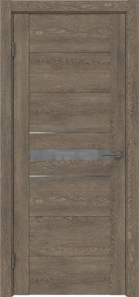 Межкомнатная дверь GM003 (экошпон «дуб антик» / лакобель серый)