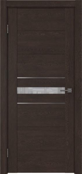 Межкомнатная дверь GM003 (экошпон «дуб шоколад» / лакобель белый)