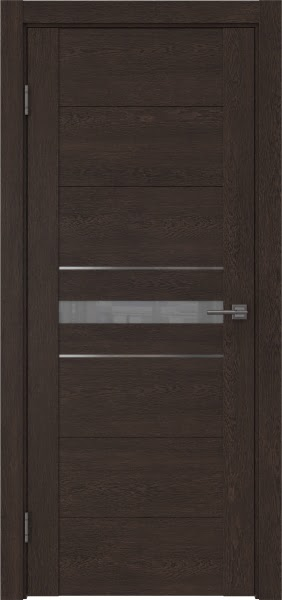 Межкомнатная дверь GM003 (экошпон «дуб шоколад» / лакобель серый)